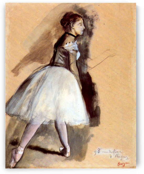 Dancer in step position 1 by Degas by Degas