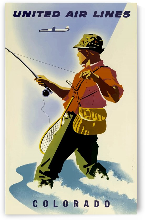 Vintage Travel Poster Colorado USAEdited by Culturio