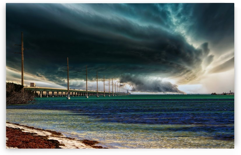Storm clouds over Bridge by Connie Maher