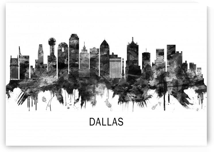 Dallas Texas Skyline BW by Towseef Dar