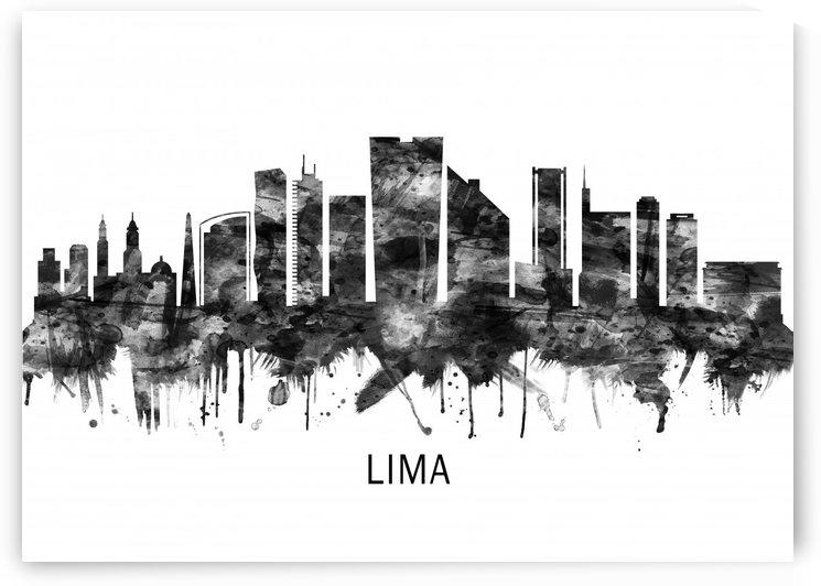 Lima Peru Skyline BW by Towseef Dar