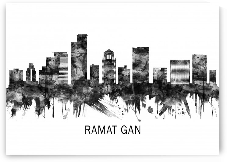 Ramat Gan Israel Skyline BW by Towseef