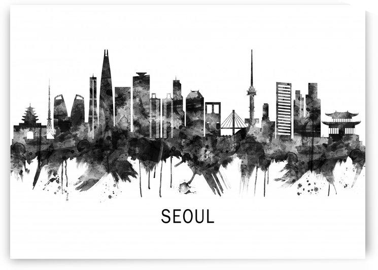 Seoul South Korea Skyline BW by Towseef Dar