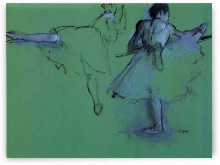 Dancers at the bar 2 by Degas by Degas