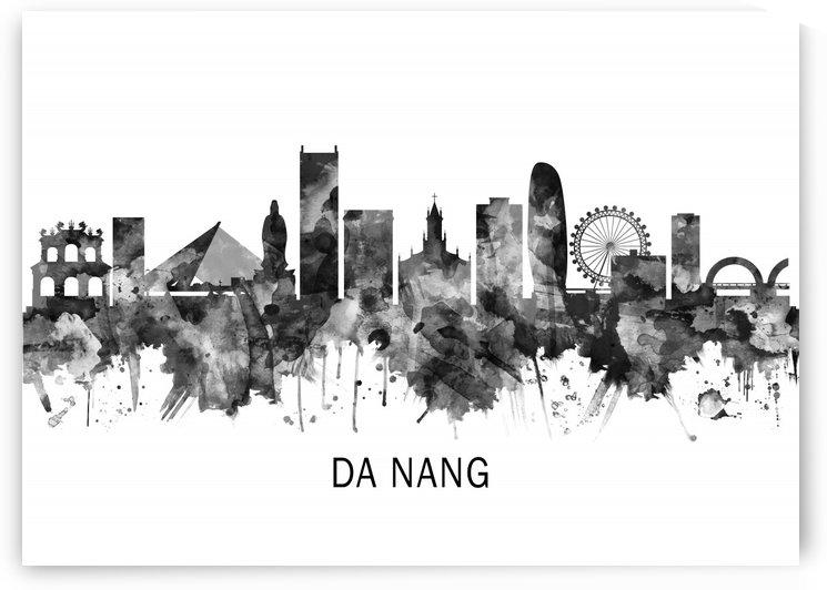 Da Nang Vietnam Skyline BW by Towseef Dar