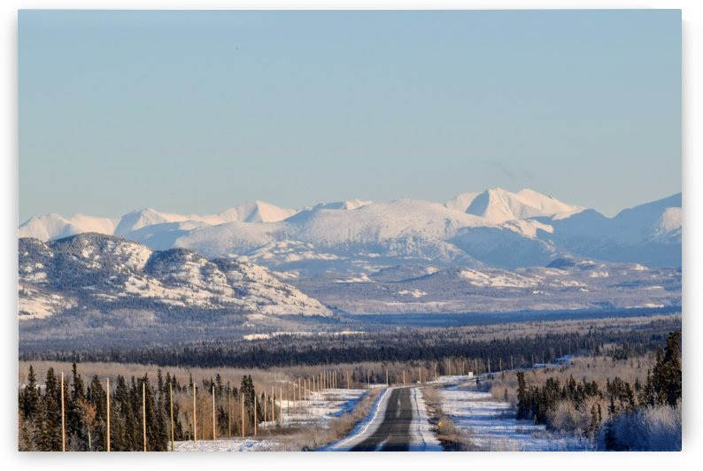 Alaska highway to Whitehorse YT by Stuart Spofford