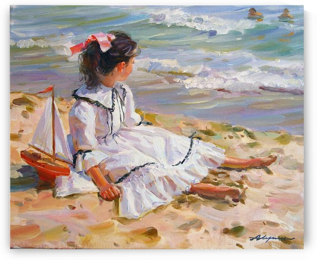 A girl in the sand by Alexander Averin
