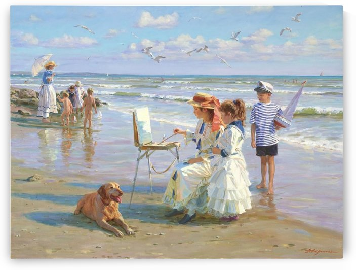 A painter by the seaside by Alexander Averin