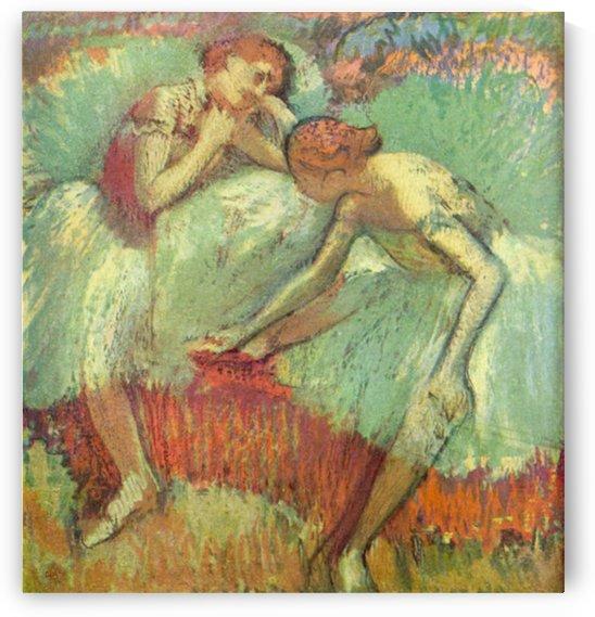 Dancers in green by Degas by Degas