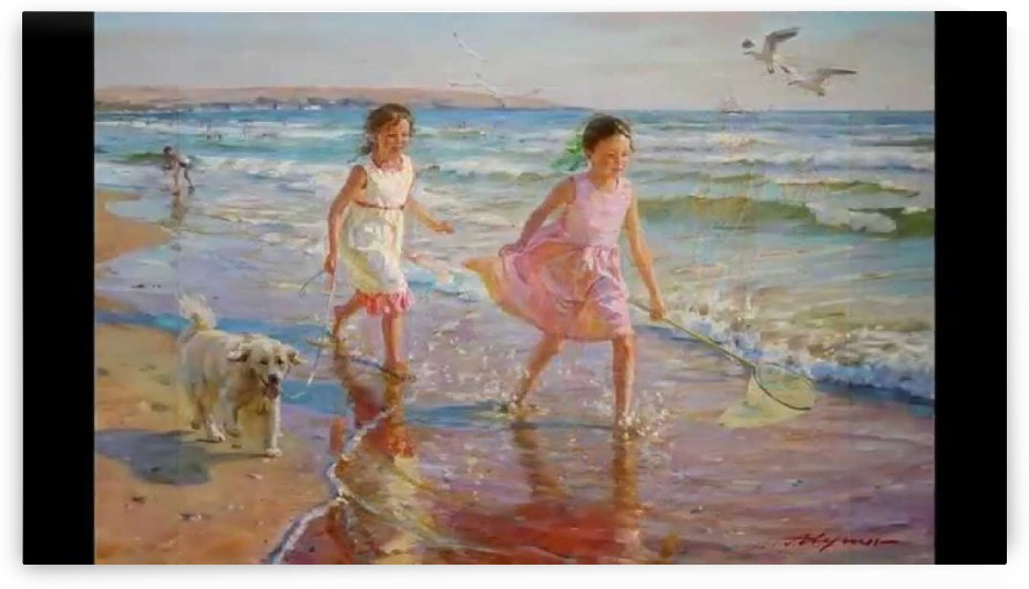 Running on the beach by Alexander Averin