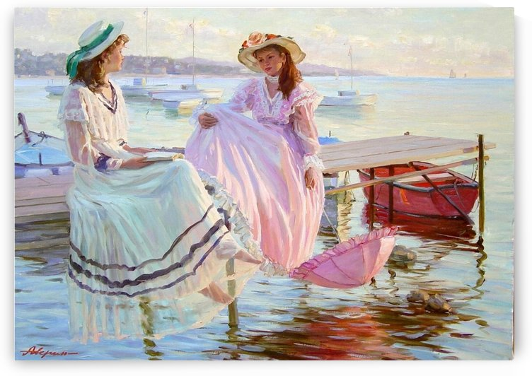 Standing on the dock by Alexander Averin