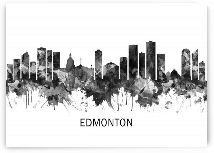 Edmonton Canada Skyline BW by Towseef Dar