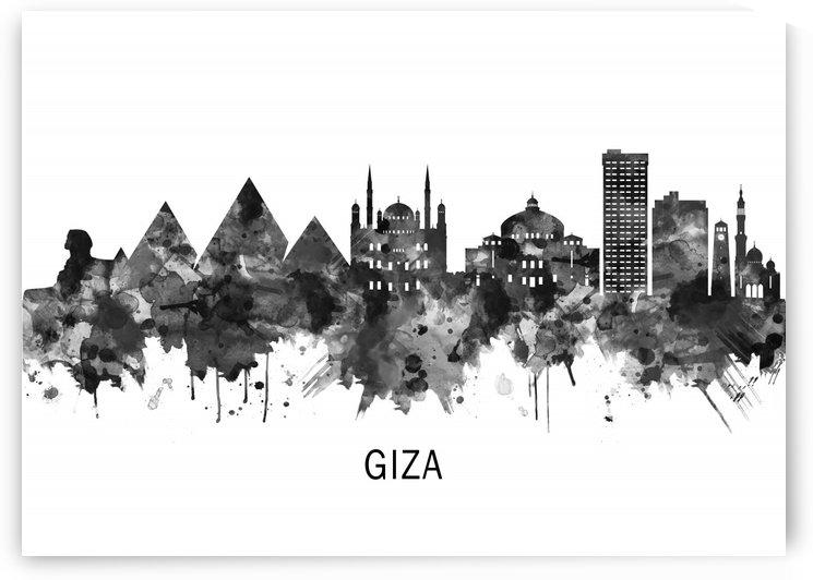 Giza Egypt Skyline BW by Towseef Dar