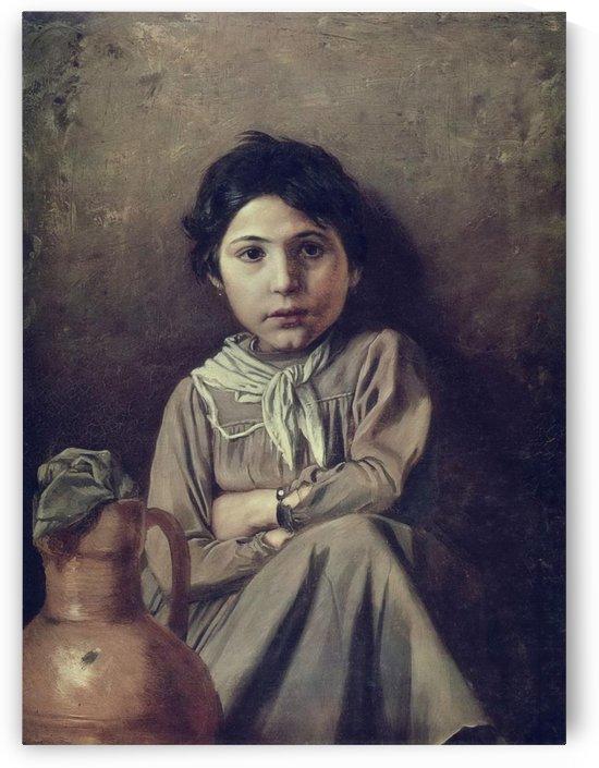 Little girl by Vasily Grigorievich Perov