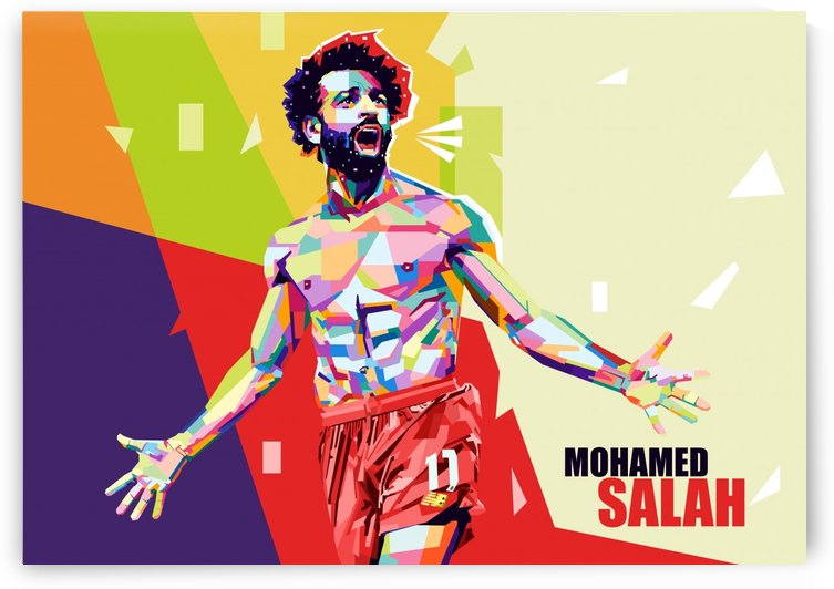 Mohamed salah by artwork poster