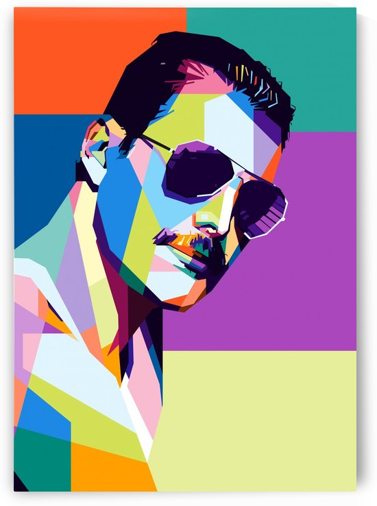 freddie mercury by artwork poster