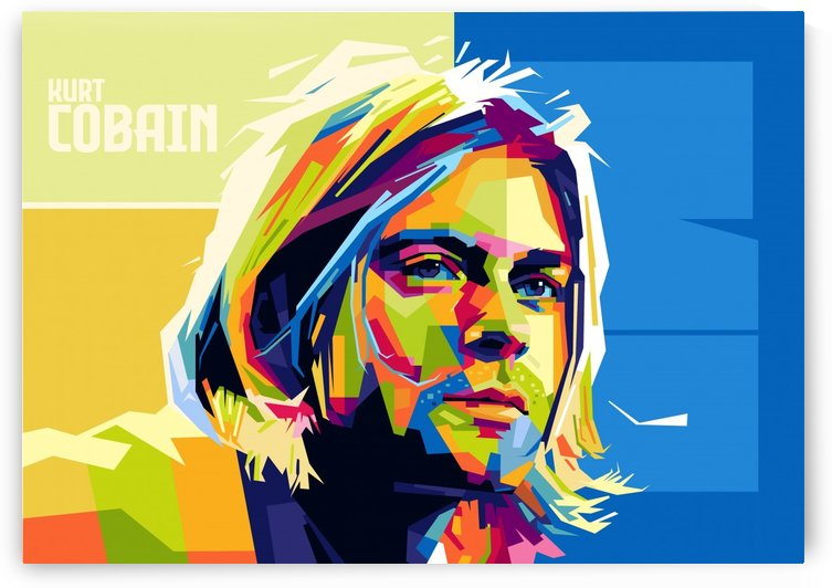 kurt cobain by artwork poster