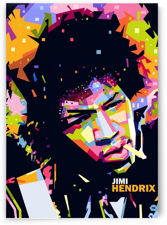 jimi hendrix by artwork poster