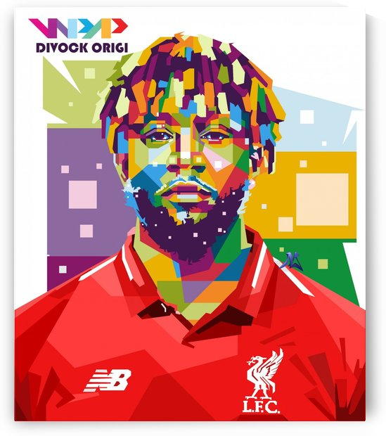 Divock origi by artwork poster