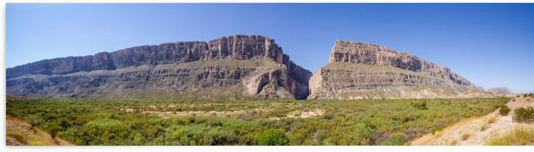 Santa Elena Canyon Pano by Wynne Mill Photography