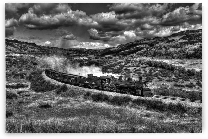chama freight train B&W by Bill Leverton