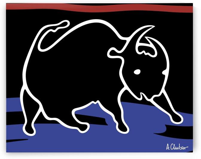 Bull by Alexander Chubar