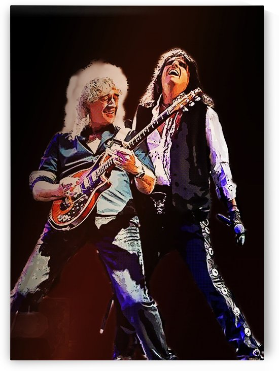 Brian May and Alice Cooper by Gunawan Rb