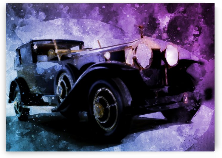 car vintage by artwork poster