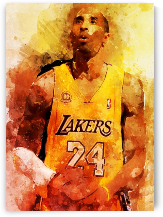 kobe bryant by artwork poster