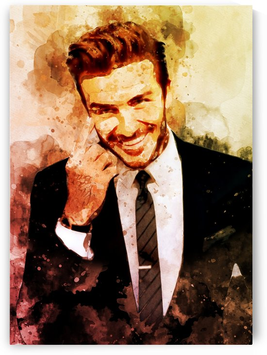 David beckham by artwork poster