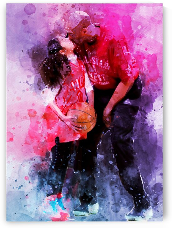 Gianna and kobe bryant by artwork poster