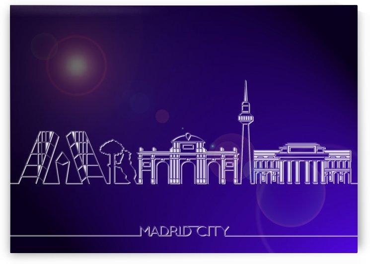Skyline Bluprint Light of Madrid City by Gunawan Rb
