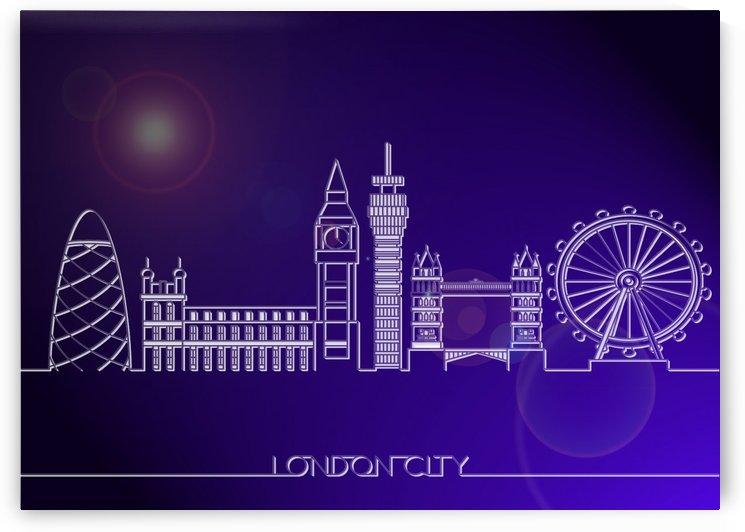 Skyline Bluprint Light of London City by Gunawan Rb