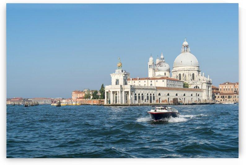 Classic Venetian - Speeding Boat with Santa Maria della Salute and Dogana da Mar by GeorgiaM