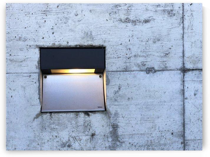 Street Lamp on Concrete Wood Look Pattern by Swiss Art by Patrick Kobler