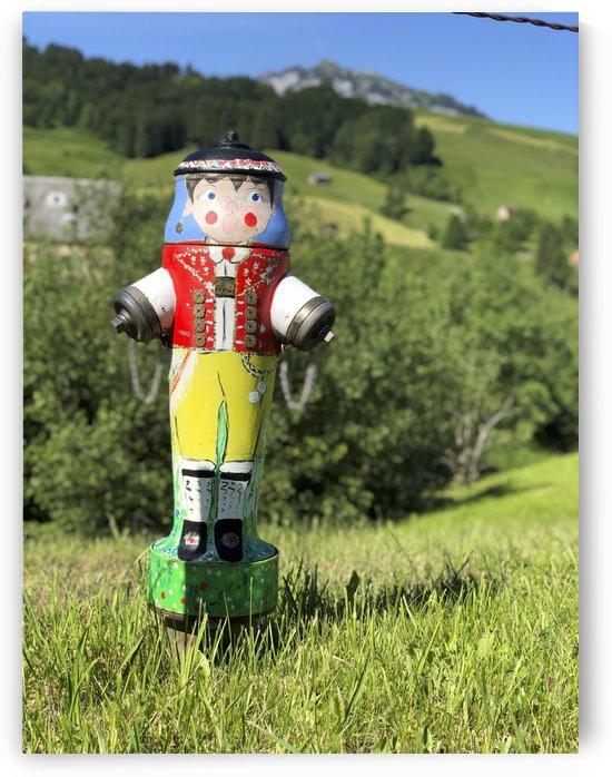 Appenzeller Mandli in Costume  by Swiss Art by Patrick Kobler