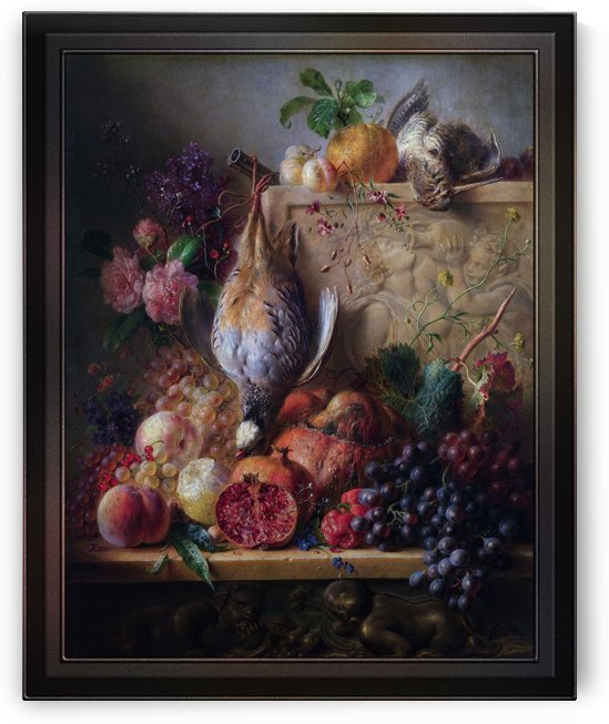 Flowers Game and Fruit by Georgius Jacobus Johannes van Os by xzendor7
