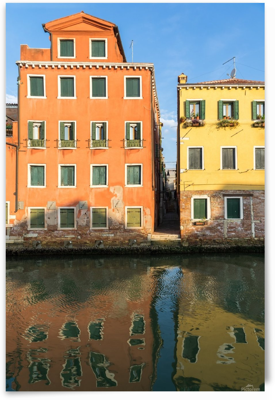 Happy Venetian - Cheerful Canalside Houses In Orange And Yellow by GeorgiaM