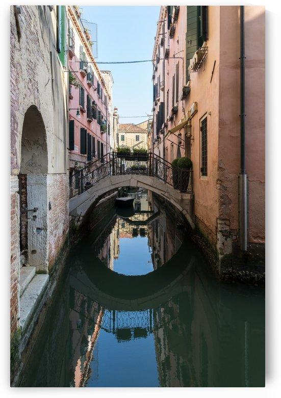Classic Venetian - Reflecting on Rio de San Zanivoro Canal and a Graceful Arched Bridge by GeorgiaM