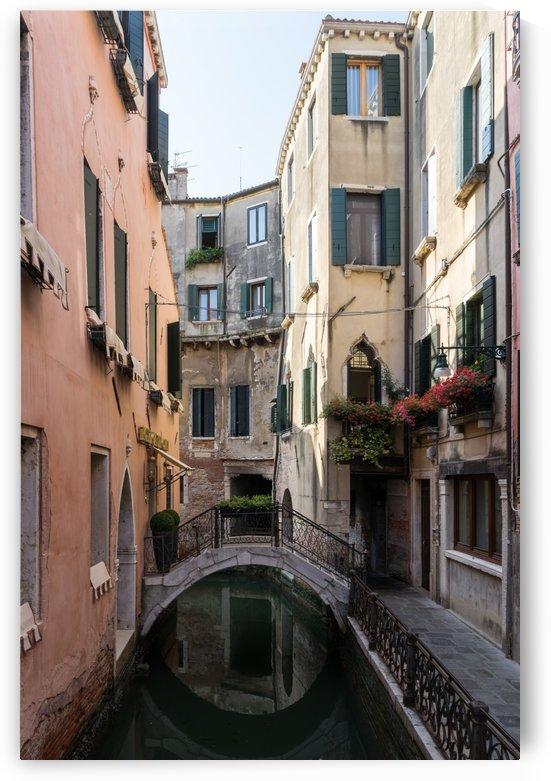 Classic Venetian - Reflecting on Rio de San Zanivoro Canal and a Dainty Bridge  by GeorgiaM