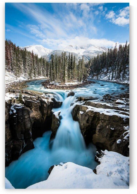 Snowy Sunwapta Falls by Lucas Moore