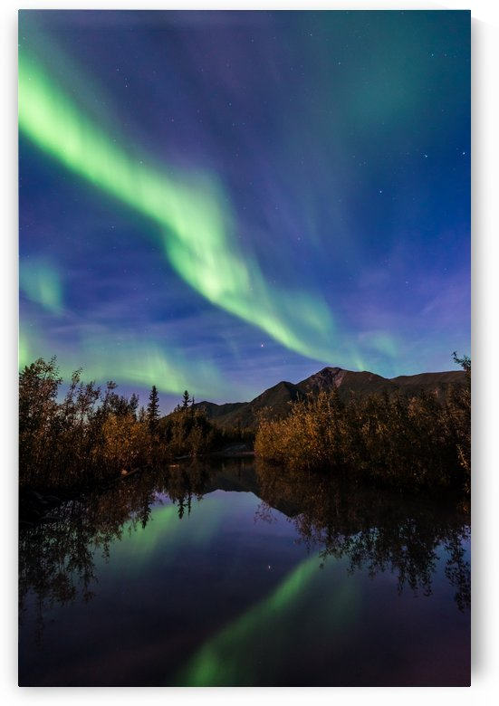 Northern Lights Reflection by Lucas Moore