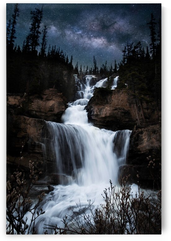 Milky Way Waterfall by Lucas Moore