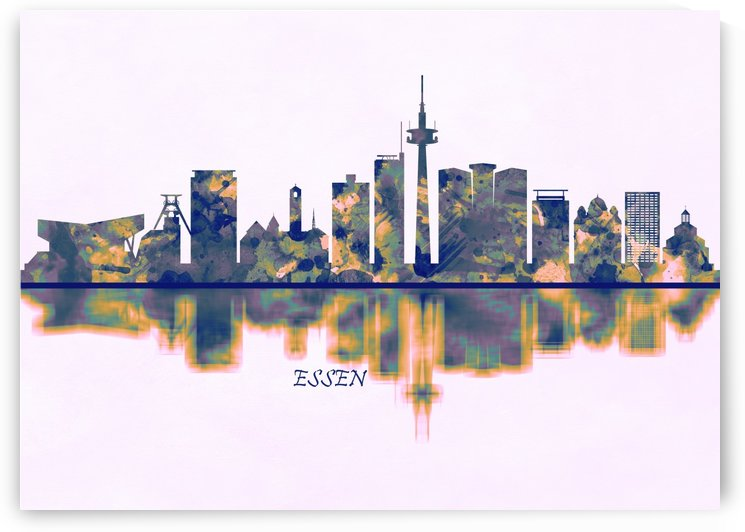 Essen Skyline by Towseef