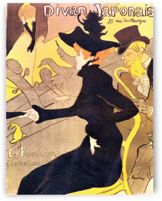 Diva Japonais by Toulouse-Lautrec by Toulouse-Lautrec