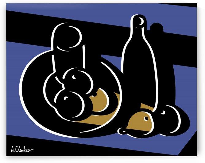 Still Life with a Bottle by Alexander Chubar