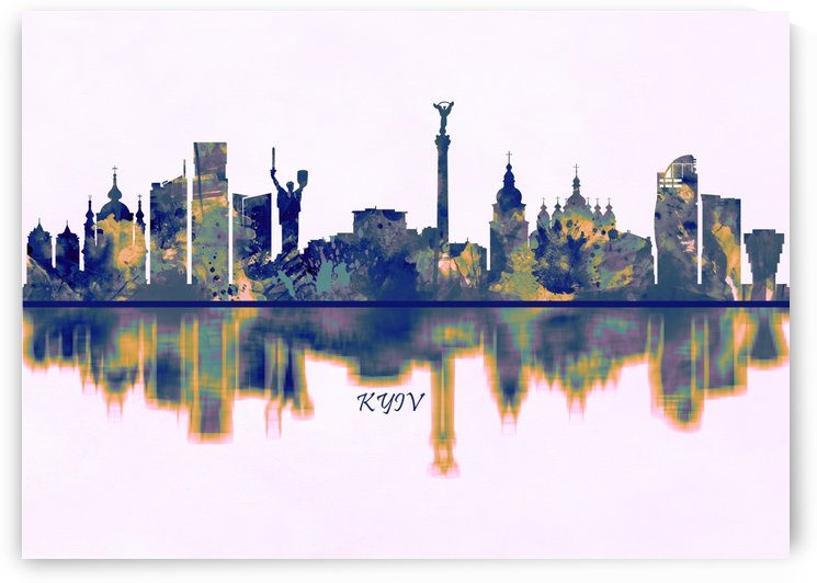 Kyiv Skyline by Towseef Dar