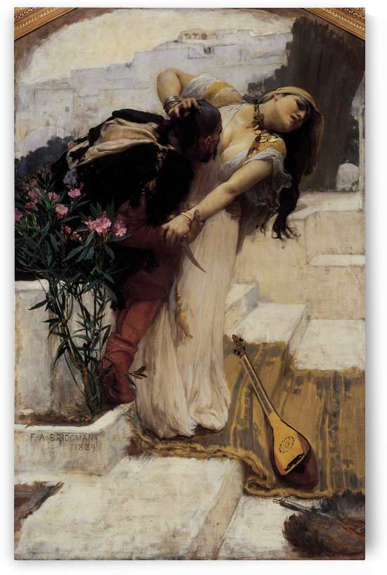 The pirate and his love by Frederick Arthur Bridgman