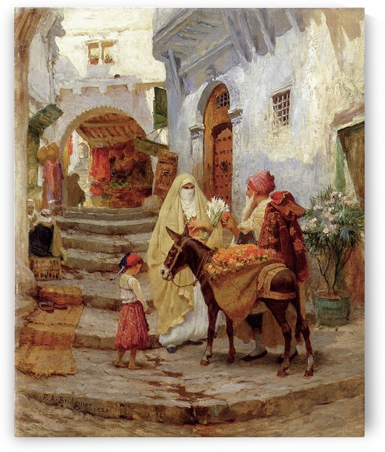 A familly by Frederick Arthur Bridgman