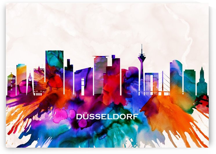 Dusseldorf Skyline by Towseef